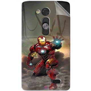 Snooky Printed Iron Man Power Pvc Vinyl Mobile Skin Sticker For LG L Fino