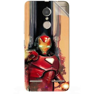 Snooky Printed Iron Man Painting Pvc Vinyl Mobile Skin Sticker For Lenovo K6 Power