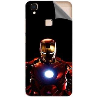 Snooky Printed Iron Man Heart Pvc Vinyl Mobile Skin Sticker For Vivo V3