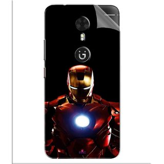 Snooky Printed Iron Man Heart Pvc Vinyl Mobile Skin Sticker For Gionee A1