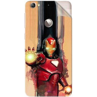 Snooky Printed Iron Man Painting Pvc Vinyl Mobile Skin Sticker For Letv Le 1S