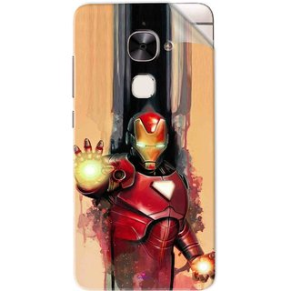 Snooky Printed Iron Man Painting Pvc Vinyl Mobile Skin Sticker For Letv Le 2