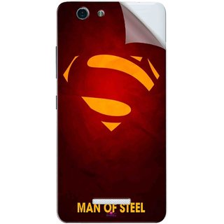 Snooky Printed Man Of Steel Supper Man Pvc Vinyl Mobile Skin Sticker For Gionee S Plus