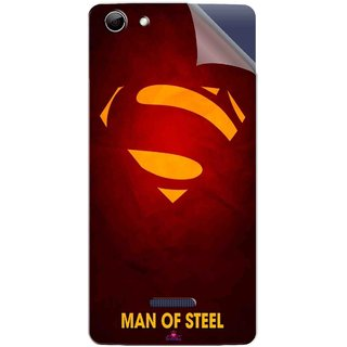 Snooky Printed Man Of Steel Supper Man Pvc Vinyl Mobile Skin Sticker For Micromax Canvas Selfie 3 Q348