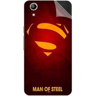 Snooky Printed Man Of Steel Supper Man Pvc Vinyl Mobile Skin Sticker For Micromax Canvas Selfie Lens Q345