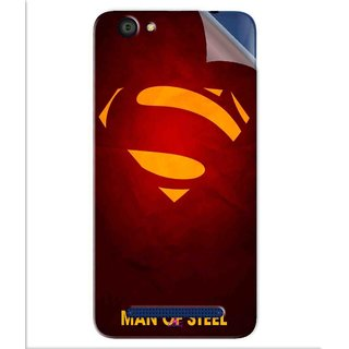 Snooky Printed Man Of Steel Supper Man Pvc Vinyl Mobile Skin Sticker For LYF Flame 1