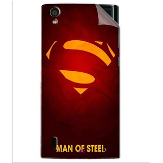 Snooky Printed Man Of Steel Supper Man Pvc Vinyl Mobile Skin Sticker For Vivo Y15