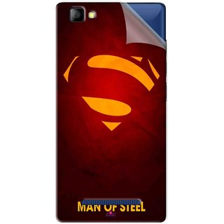 Snooky Printed Man Of Steel Supper Man Pvc Vinyl Mobile Skin Sticker For LYF Flame 8