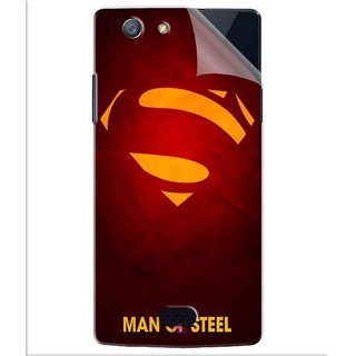 Snooky Printed Man Of Steel Supper Man Pvc Vinyl Mobile Skin Sticker For Oppo Neo 5