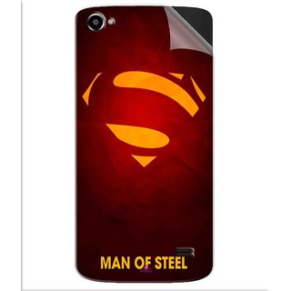 Snooky Printed Man Of Steel Supper Man Pvc Vinyl Mobile Skin Sticker For Intex Aqua Star 2 HD