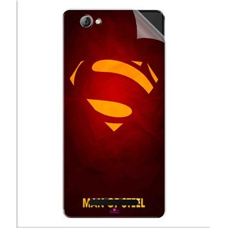 Snooky Printed Man Of Steel Supper Man Pvc Vinyl Mobile Skin Sticker For Lava A71