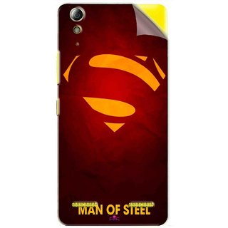 Snooky Printed Man Of Steel Supper Man Pvc Vinyl Mobile Skin Sticker For Lenovo A6000 Plus