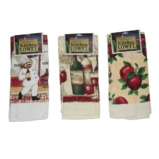 JADES Multicolor Cotton Printed Kitchen Towels (37X64Cm) Pack of- 3