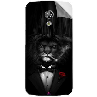 Snooky Printed liON BLACKSUIT Pvc Vinyl Mobile Skin Sticker For Moto G2