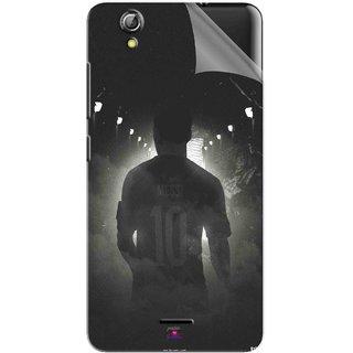 Snooky Printed messi black and white Football Pvc Vinyl Mobile Skin Sticker For Gionee Pioneer P5 mini