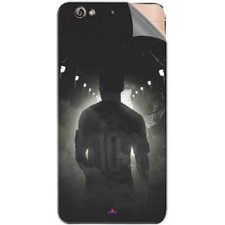 Snooky Printed messi black and white Football Pvc Vinyl Mobile Skin Sticker For Gionee Elife S6