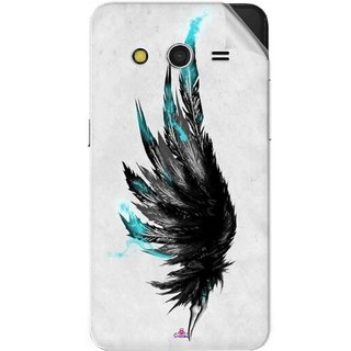 Snooky Printed wing tattoo Pvc Vinyl Mobile Skin Sticker For Samsung Galaxy Core 2