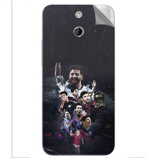 Snooky Printed lionel messi wallpaper Pvc Vinyl Mobile Skin Sticker For Htc One E8