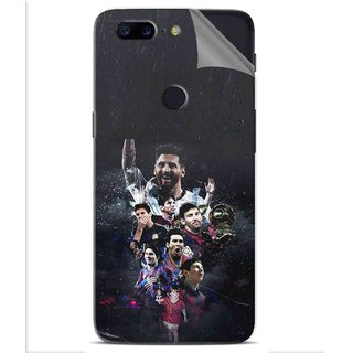Snooky Printed lionel messi wallpaper Pvc Vinyl Mobile Skin Sticker For OnePlus 5t