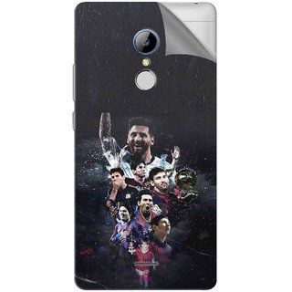 Snooky Printed lionel messi wallpaper Pvc Vinyl Mobile Skin Sticker For LYF Water 7