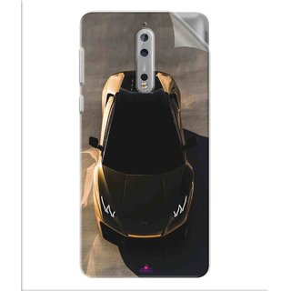 Snooky Printed Lombarghni Pvc Vinyl Mobile Skin Sticker For Nokia 8