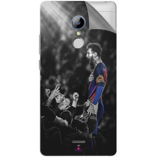 Snooky Printed lionel messi wallpaper 2017 Pvc Vinyl Mobile Skin Sticker For LYF Water 7