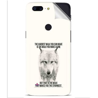 Snooky Printed lone wolf Pvc Vinyl Mobile Skin Sticker For OnePlus 5t