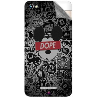 Snooky Printed Mickey Dope Pvc Vinyl Mobile Skin Sticker For Micromax Canvas Hue 2