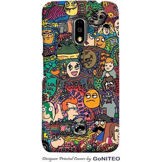 Printed Mobile Phone Back Cover Case for Moto E3 Power by GoNITEO || Cartoons || Collage || Kids ||