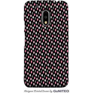 Printed Mobile Phone Back Cover Case for Moto E3 Power by GoNITEO || Oval || Dots || Multi Color ||