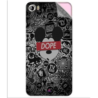 Snooky Printed Mickey Dope Pvc Vinyl Mobile Skin Sticker For Intex Aqua Glam