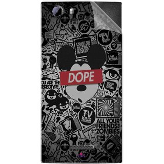Snooky Printed Mickey Dope Pvc Vinyl Mobile Skin Sticker For Micromax Canvas Play 4G Q469