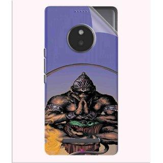 Snooky Printed Lord Hanuman Ji bhagvan bala ji maharaj Pvc Vinyl Mobile Skin Sticker For Micromax Yu Yunique