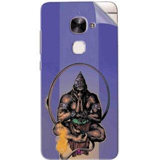 Snooky Printed Lord Hanuman Ji bhagvan bala ji maharaj Pvc Vinyl Mobile Skin Sticker For Letv Le 2