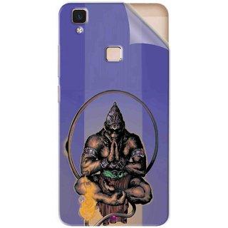 Snooky Printed Lord Hanuman Ji bhagvan bala ji maharaj Pvc Vinyl Mobile Skin Sticker For Vivo V3 Max