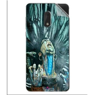 Snooky Printed Lord Shiva Anger Pvc Vinyl Mobile Skin Sticker For Nokia 6