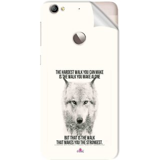 Snooky Printed lone wolf Pvc Vinyl Mobile Skin Sticker For Letv Le 1S