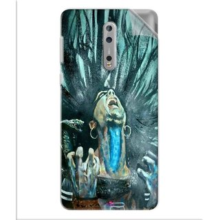 Snooky Printed Lord Shiva Anger Pvc Vinyl Mobile Skin Sticker For Nokia 8