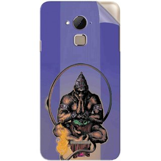 Snooky Printed Lord Hanuman Ji bhagvan bala ji maharaj Pvc Vinyl Mobile Skin Sticker For Coolpad Note 3 Plus