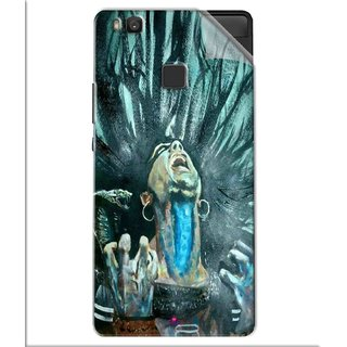 Snooky Printed Lord Shiva Anger Pvc Vinyl Mobile Skin Sticker For Huawei Honor 8 Smart