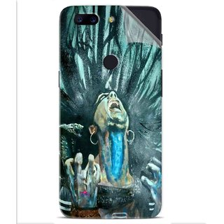 Snooky Printed Lord Shiva Anger Pvc Vinyl Mobile Skin Sticker For OnePlus 5t