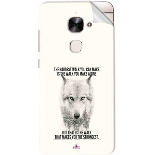 Snooky Printed lone wolf Pvc Vinyl Mobile Skin Sticker For Letv Le 2