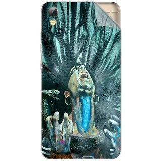 Snooky Printed Lord Shiva Anger Pvc Vinyl Mobile Skin Sticker For Tecno i7