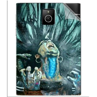 Snooky Printed Lord Shiva Anger Pvc Vinyl Mobile Skin Sticker For BlackBerry Passport