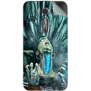 Snooky Printed Lord Shiva Anger Pvc Vinyl Mobile Skin Sticker For Asus Zenfone 2 Laser ZE500KL