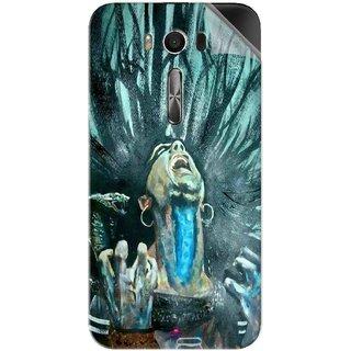 Snooky Printed Lord Shiva Anger Pvc Vinyl Mobile Skin Sticker For Asus Zenfone 2 Laser ZE550KL