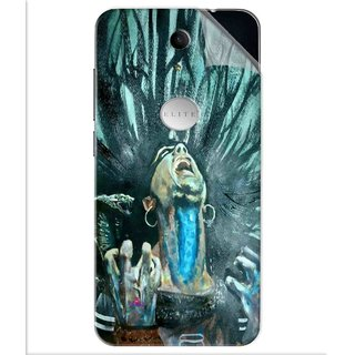 Snooky Printed Lord Shiva Anger Pvc Vinyl Mobile Skin Sticker For Swipe Elite Plus