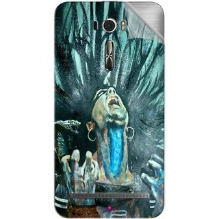 Snooky Printed Lord Shiva Anger Pvc Vinyl Mobile Skin Sticker For Asus Zenfone 2 Laser ZE601KL