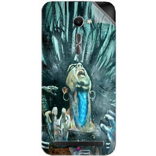 Snooky Printed Lord Shiva Anger Pvc Vinyl Mobile Skin Sticker For Asus Zenfone 2 ZE500CL 5.0