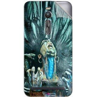 Snooky Printed Lord Shiva Anger Pvc Vinyl Mobile Skin Sticker For Asus Zenfone 2 ZE551ML